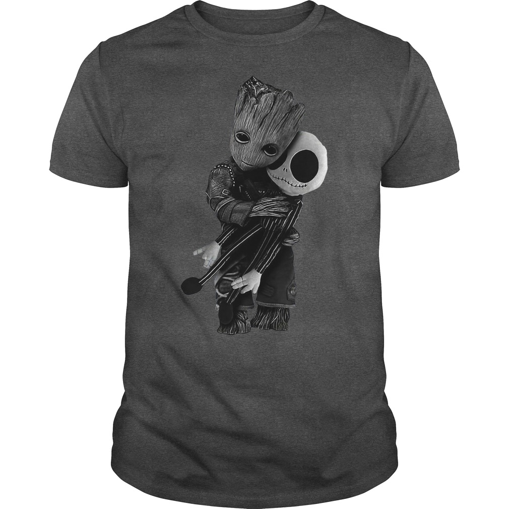 Official Groot Hug Jack Skellington Shirt