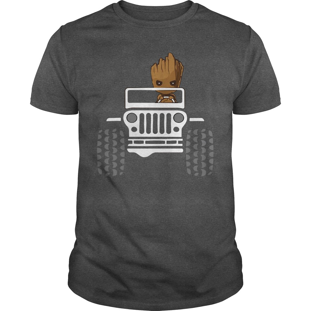 Baby Groot drive Jeep shirt