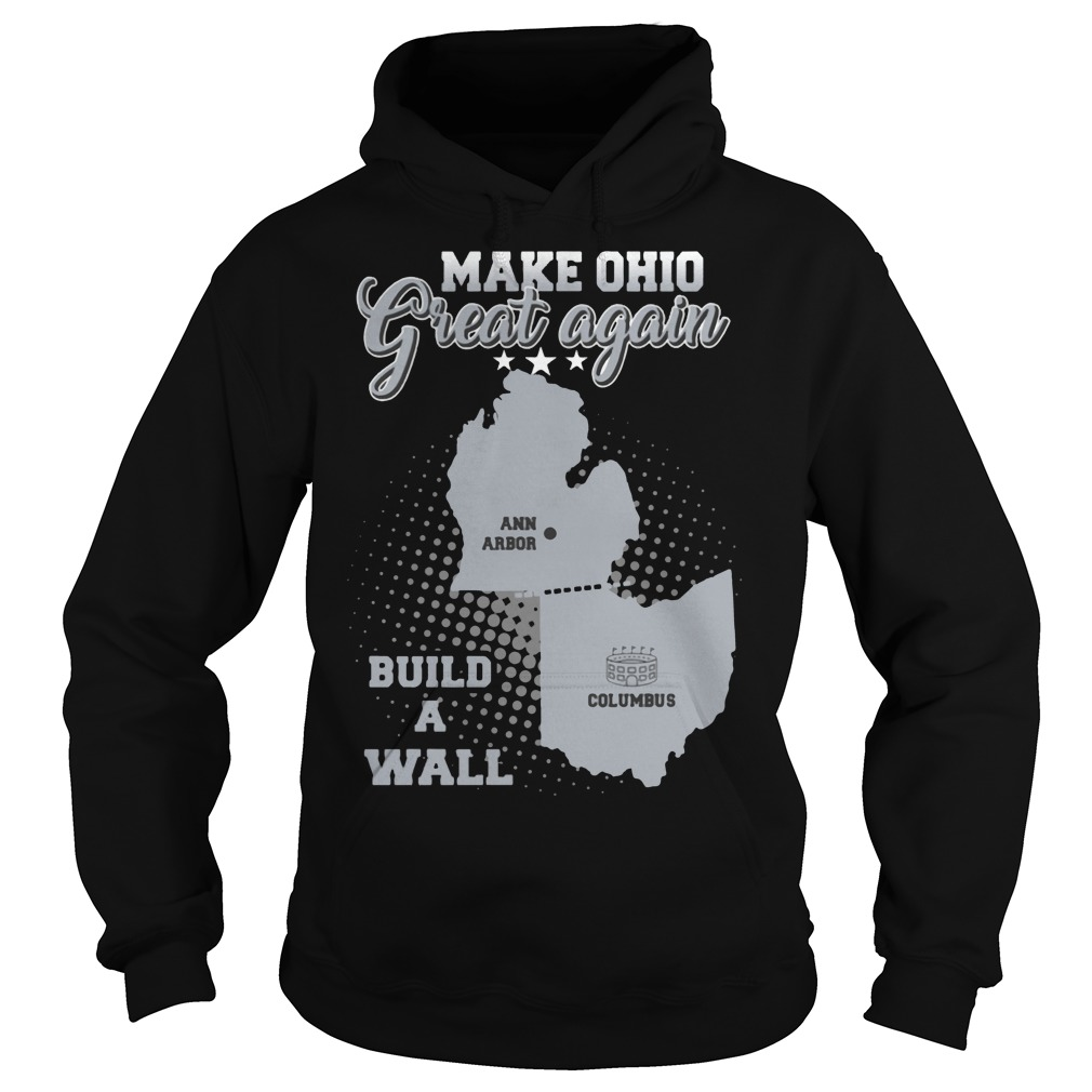 Make Ohio great again build a wall hoodie