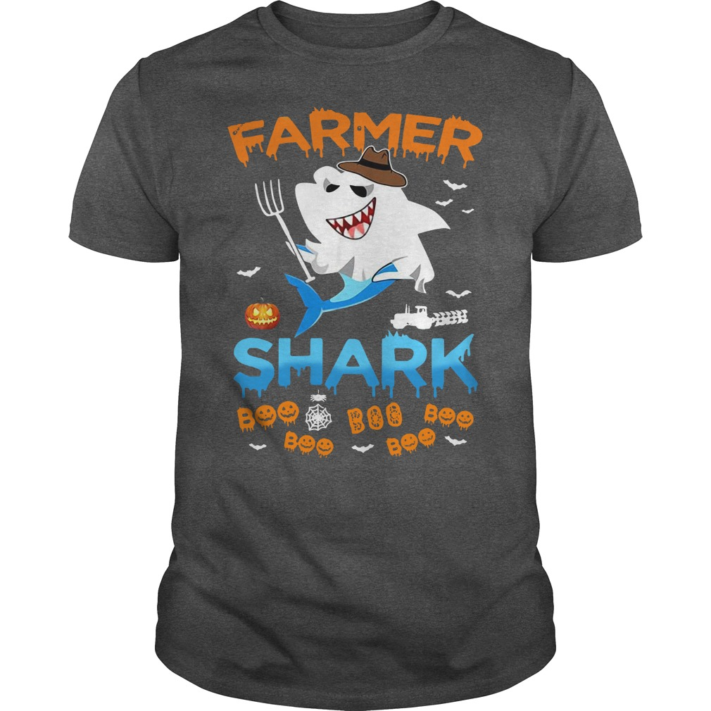 Farmer Ghost Shark boo boo Halloween shirt