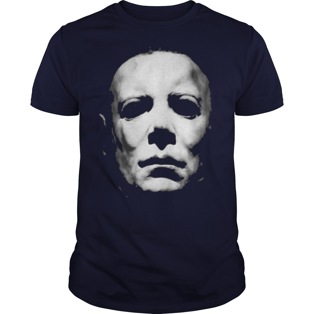 Michael Myers Face Halloween Black White shirt