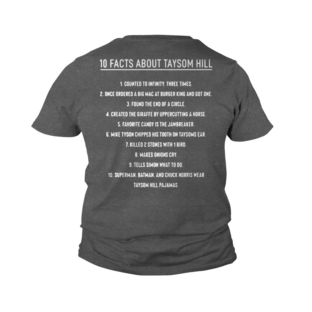 10 Facts About Taysom Hill 1 Counted To Infinity Three Times youth tee