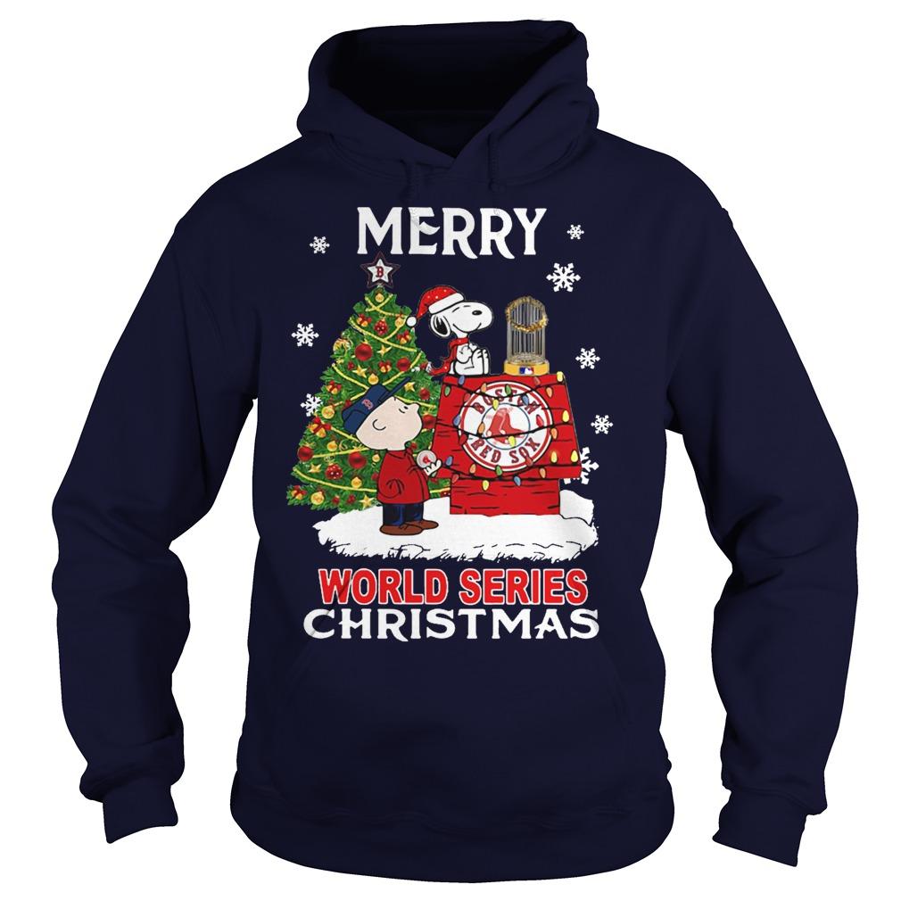 Boston Red Sox the Peanuts Snoopy world series Christmas hoodie
