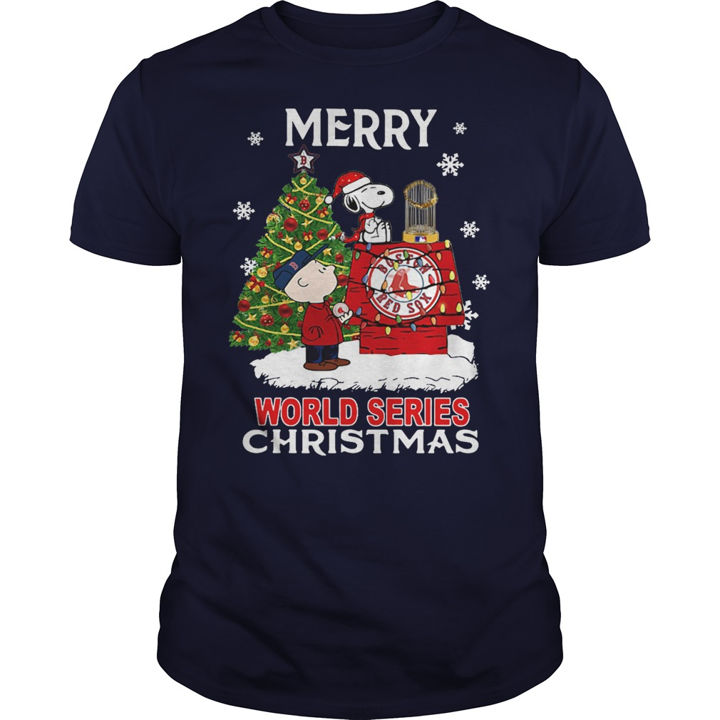 Boston Red Sox the Peanuts Snoopy world series Christmas shirt