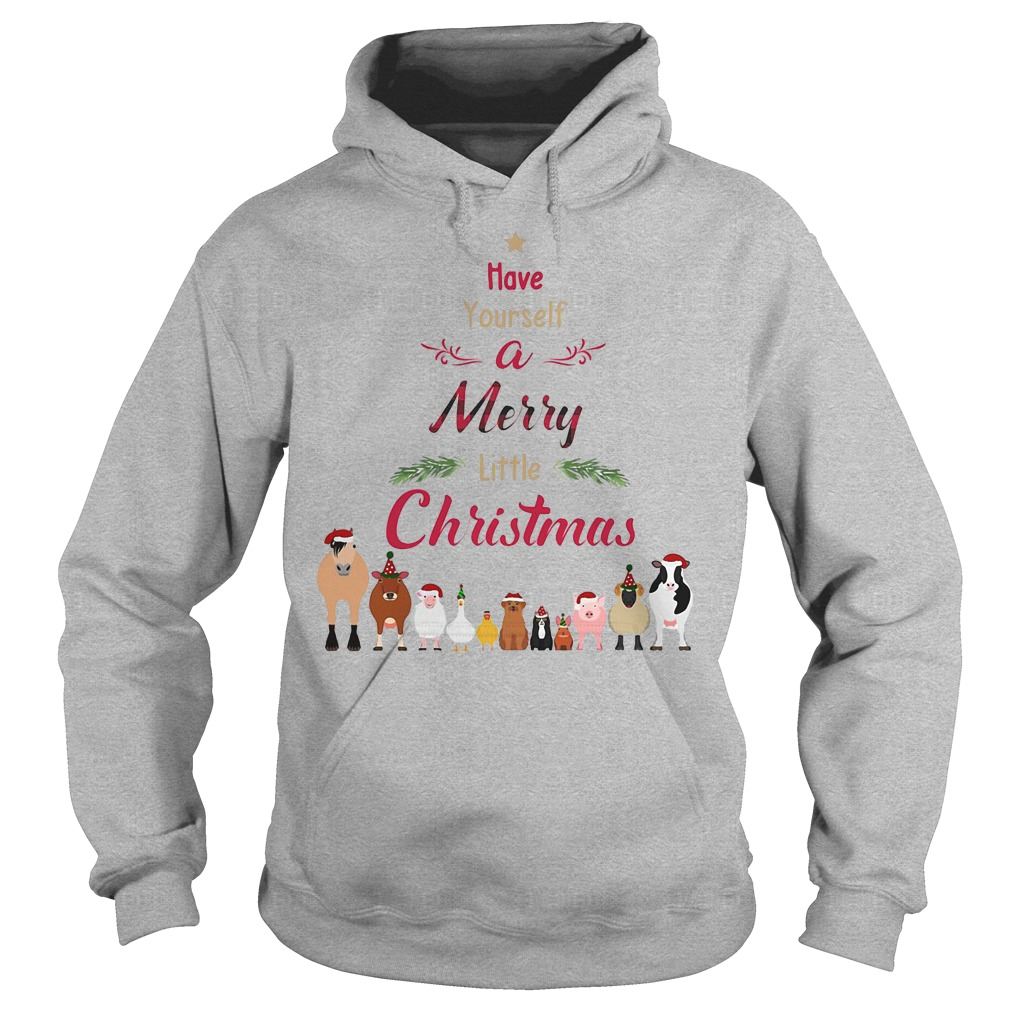 Cattle farmers Have your self a merry little christmas hoodie