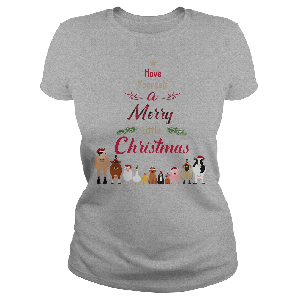 Cattle farmers Have your self a merry little christmas ladies tee