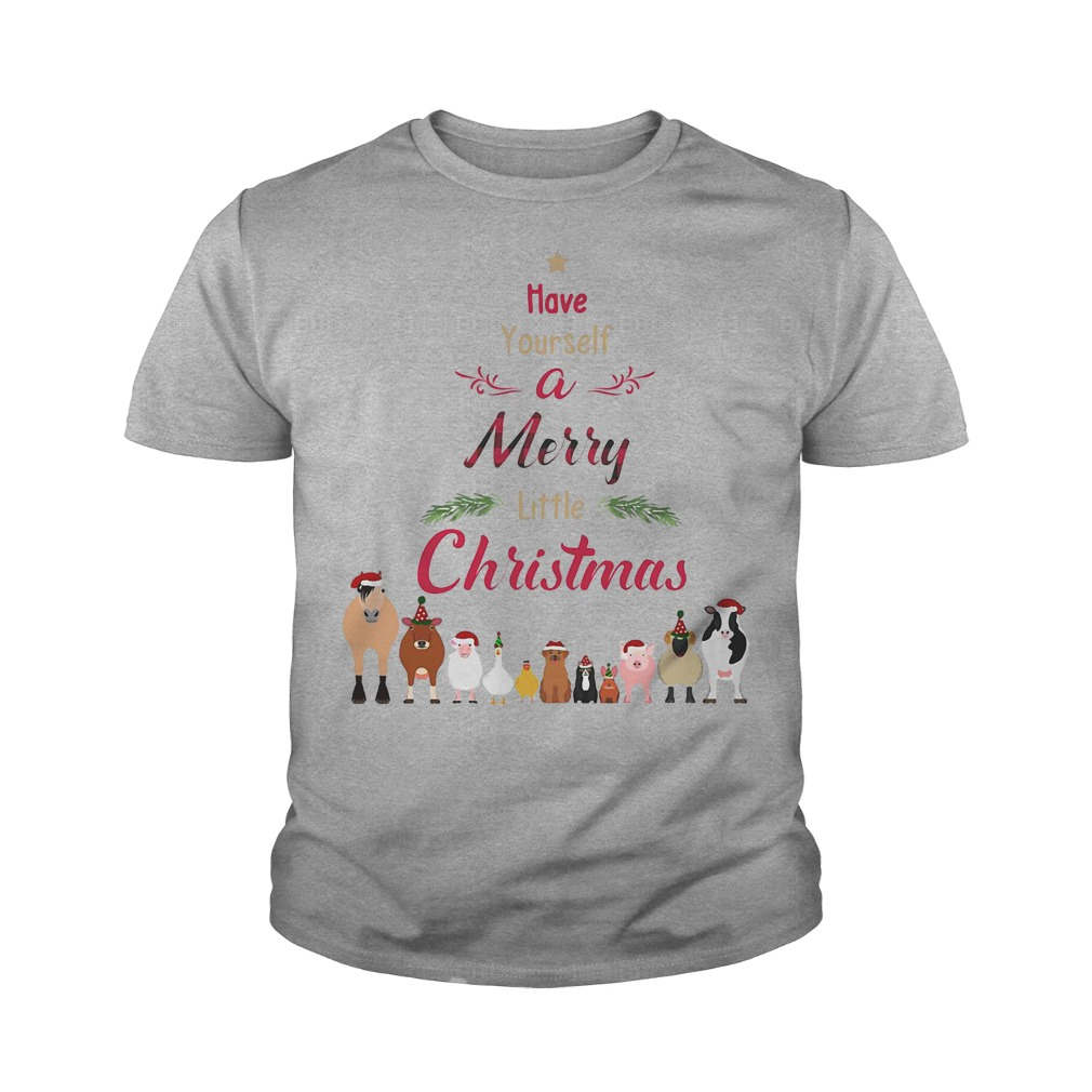 Cattle farmers Have your self a merry little christmas youth tee