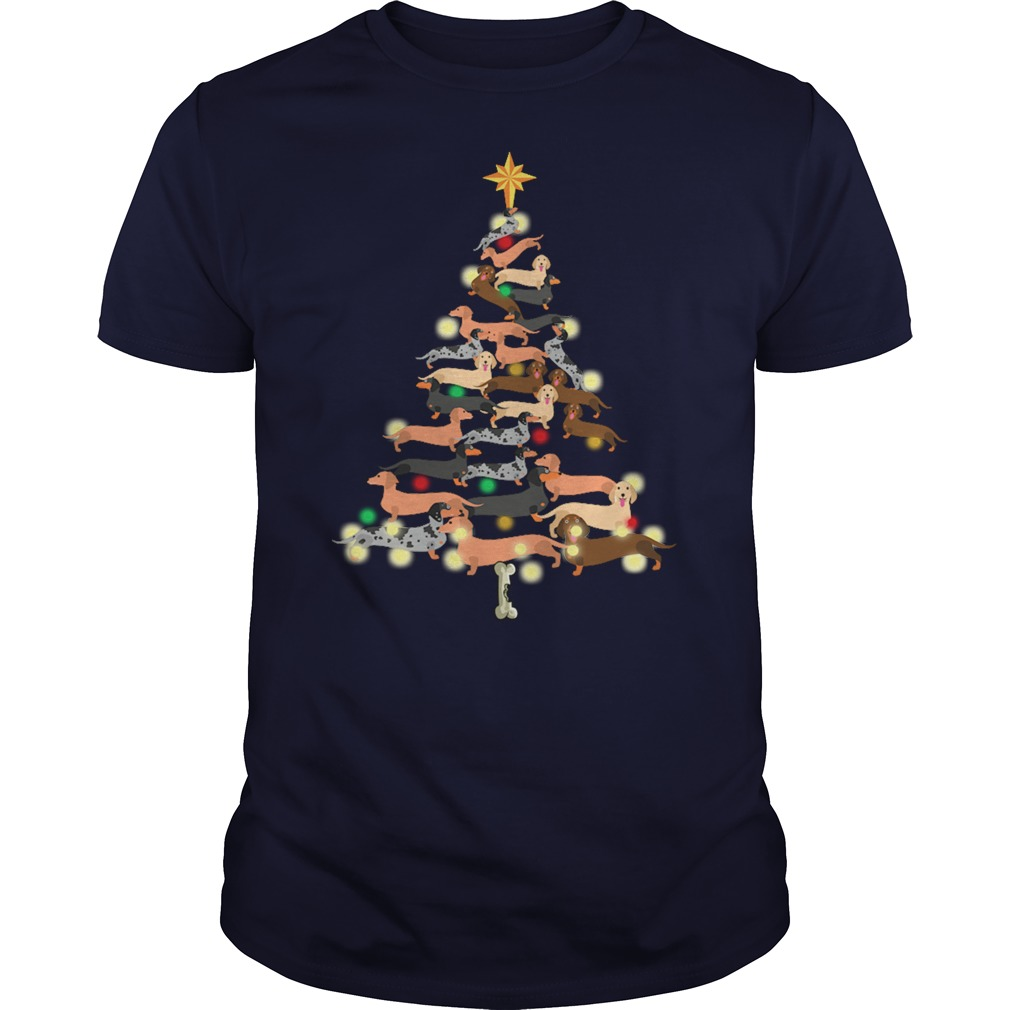Dachshunds Dog Christmas Christmas Tree shirt