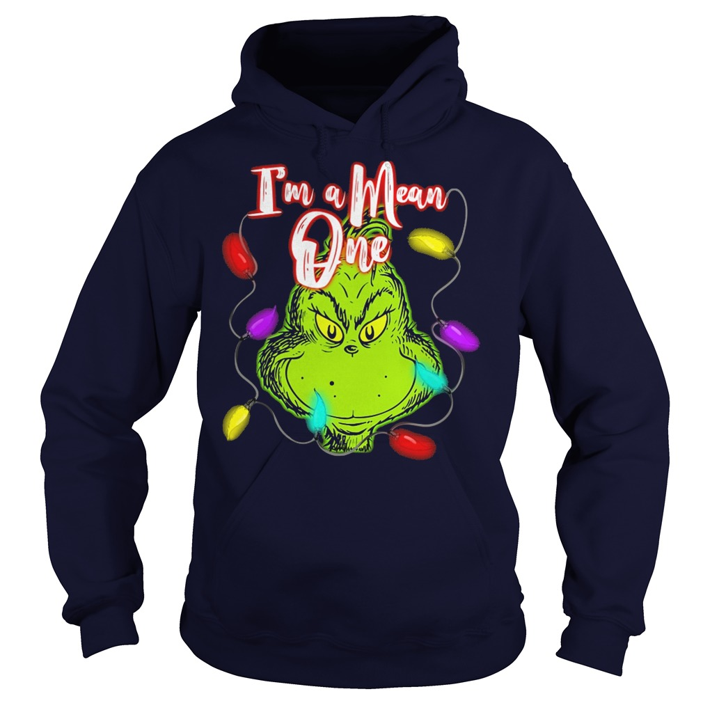 The Grinch I'm a mean one christmas light hoodie