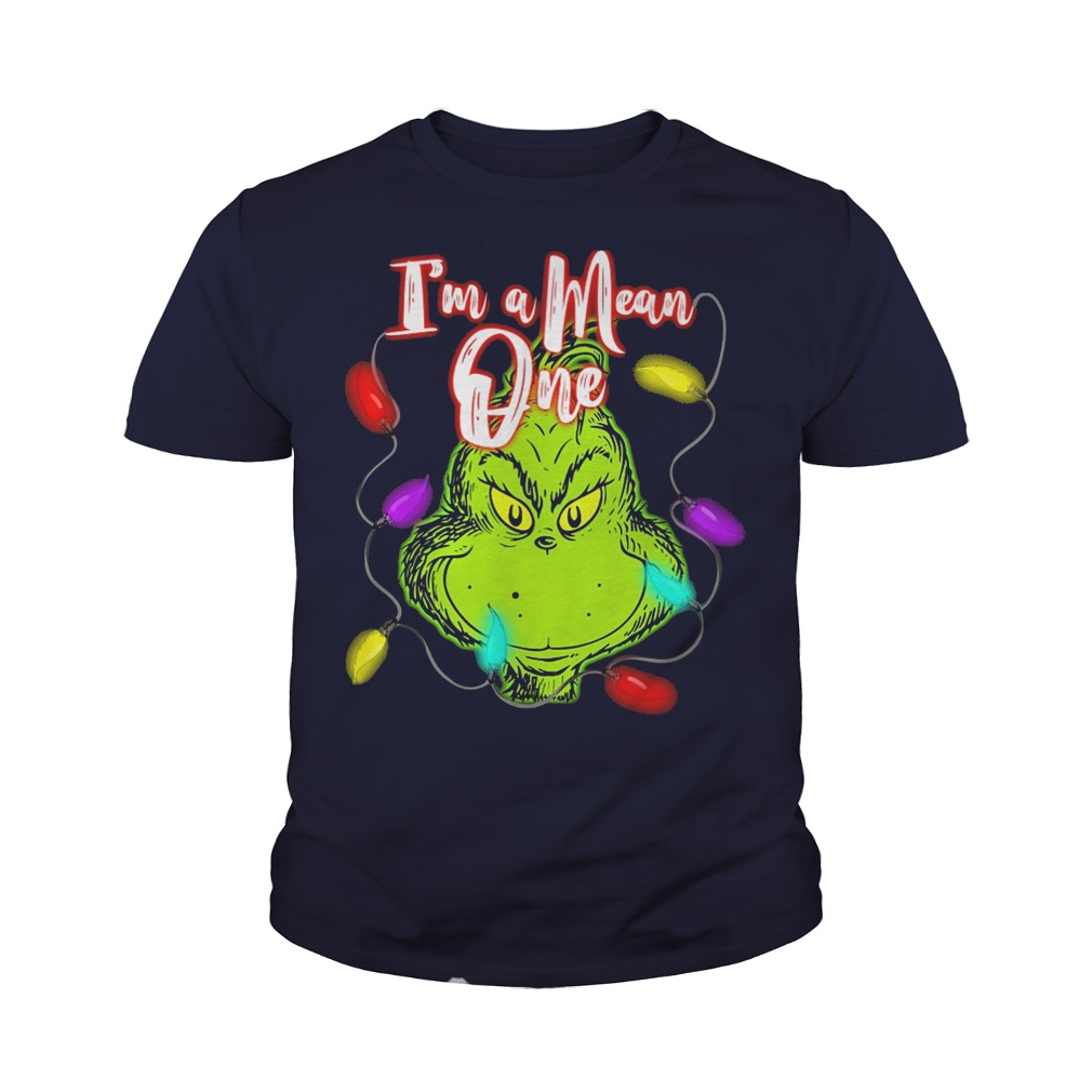 The Grinch I'm a mean one christmas light youth tee