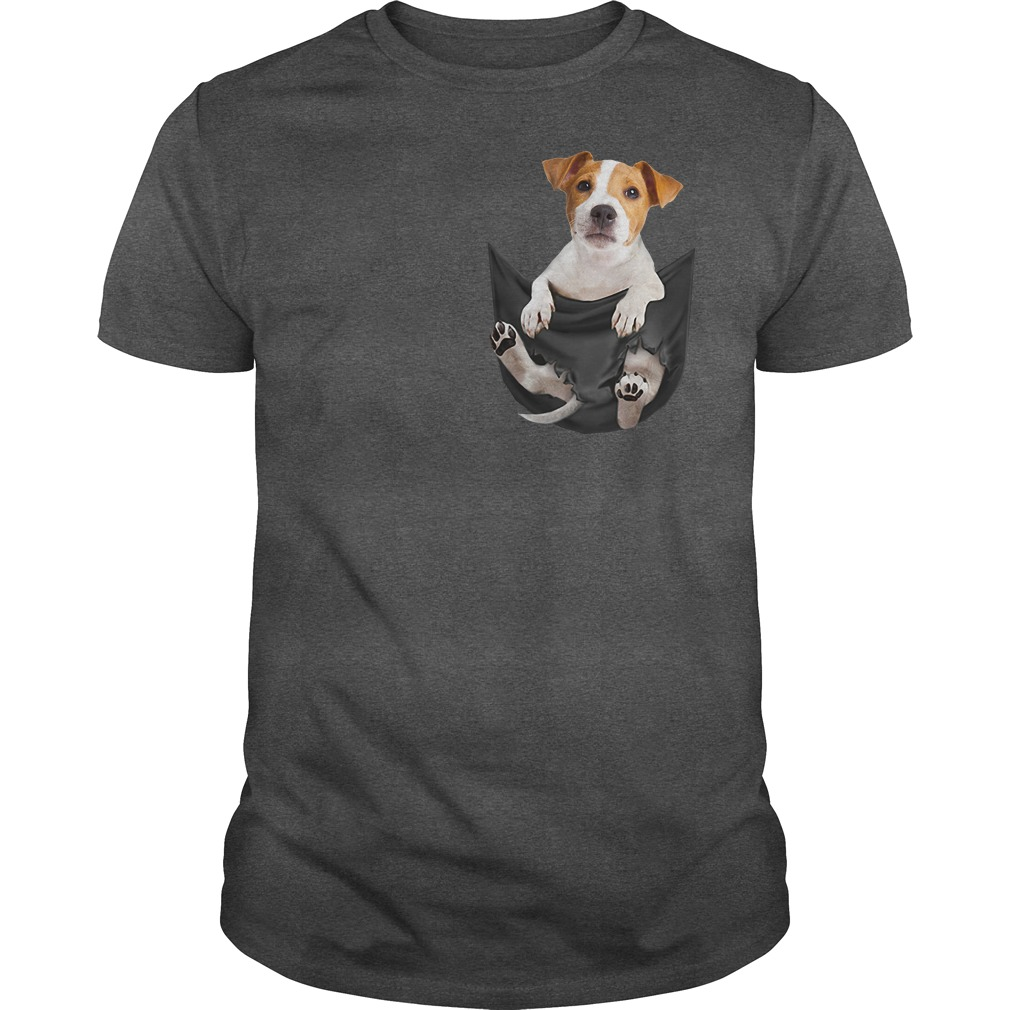 Jack Russell in pocket shirt