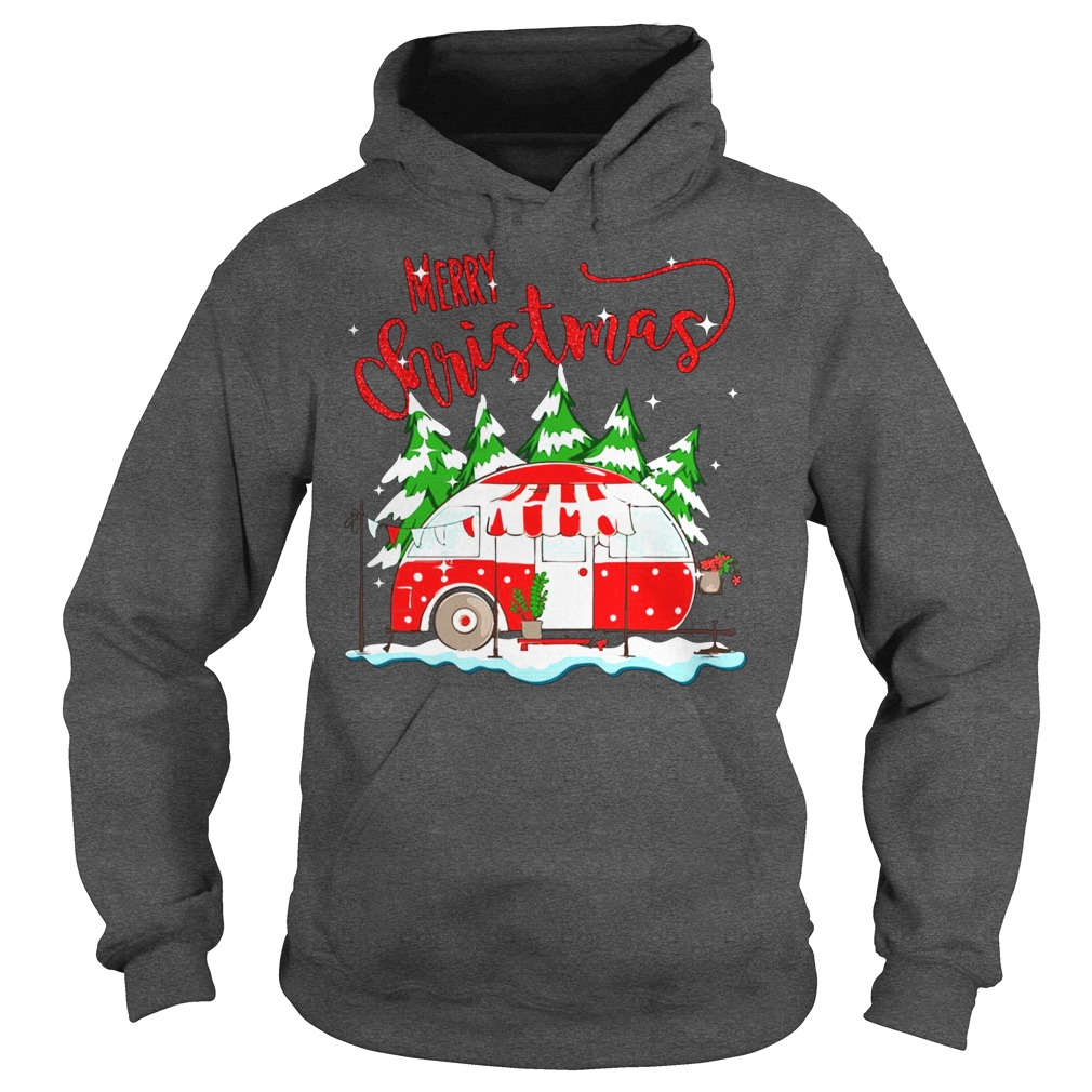 Merry christmas go camping hoodie