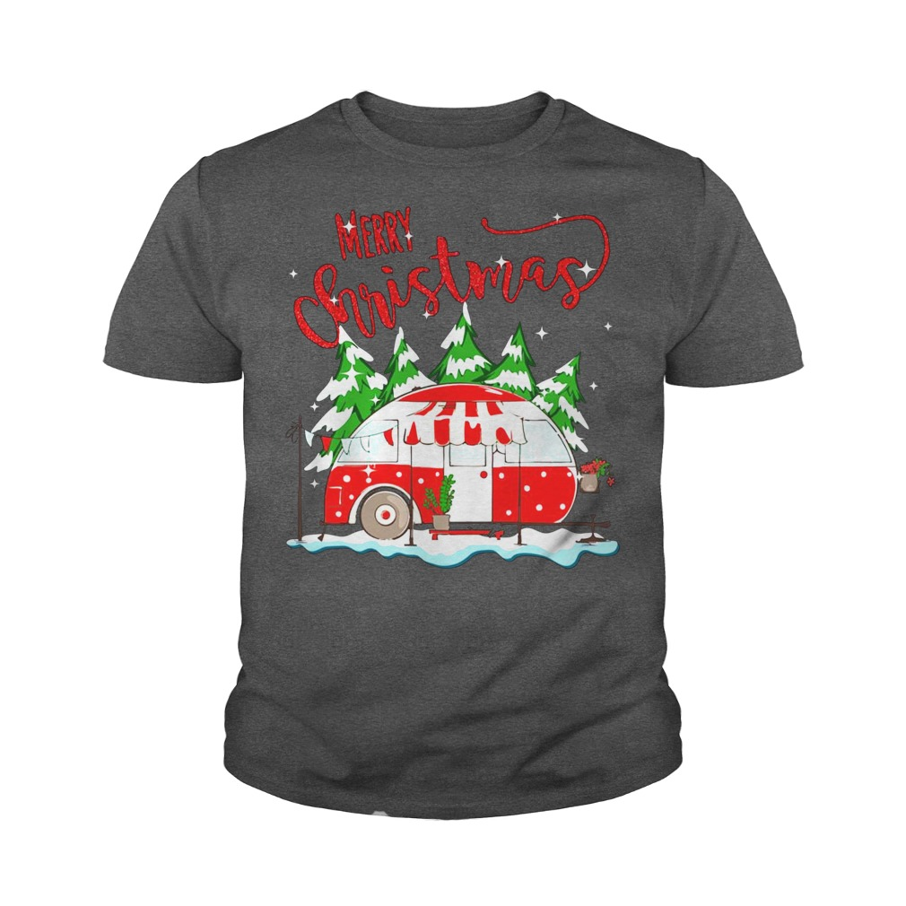 Merry christmas go camping youth tee
