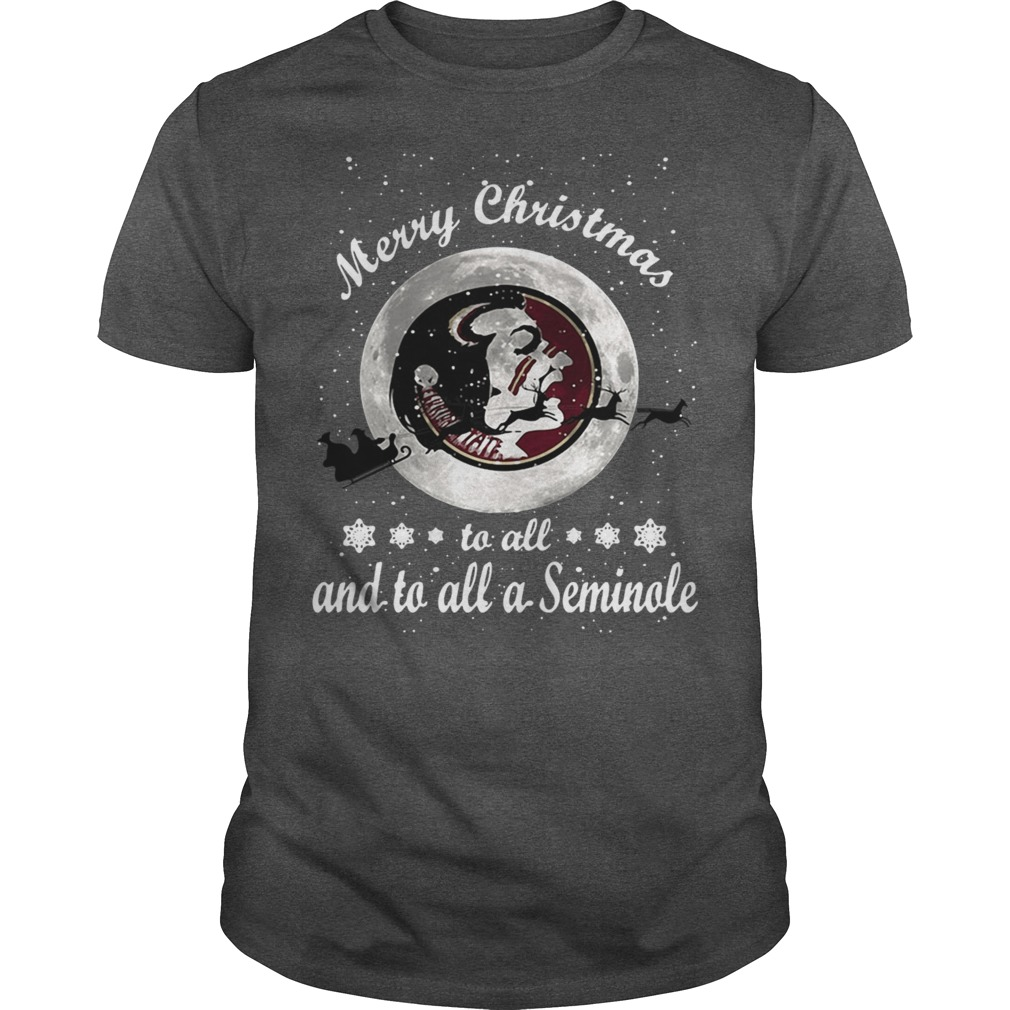 Merry Christmas to all and to all a Seminole shirt