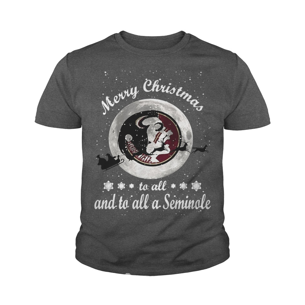Merry Christmas to all and to all a Seminole youth tee