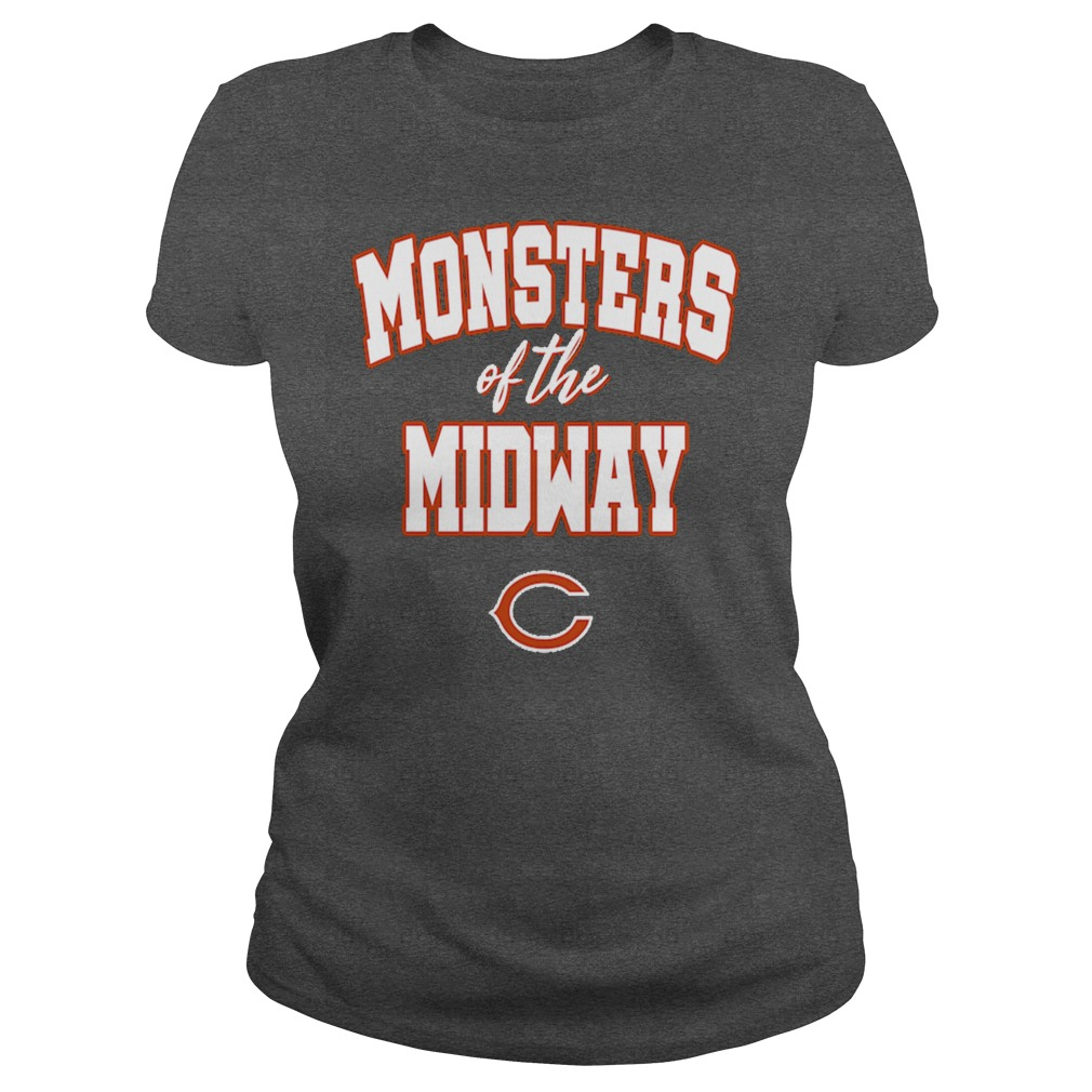 Monsters of the midway Chicago Bears ladies tee