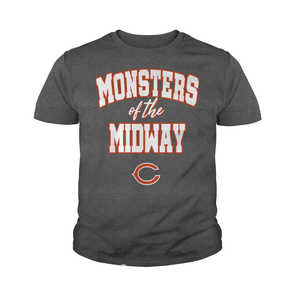 Monsters of the midway Chicago Bears youth tee
