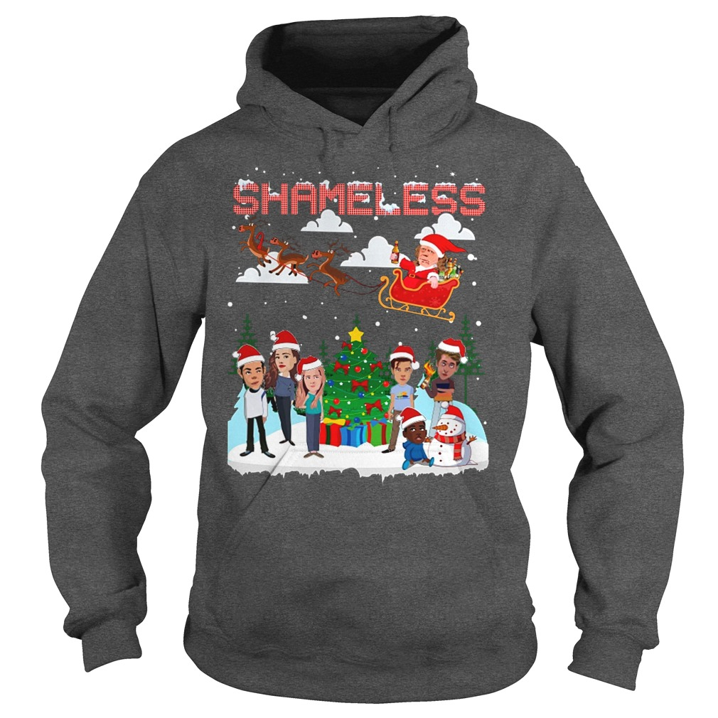 Shameless Christmas Frank and Liam Hemsworth chibi play with the snow hoodie