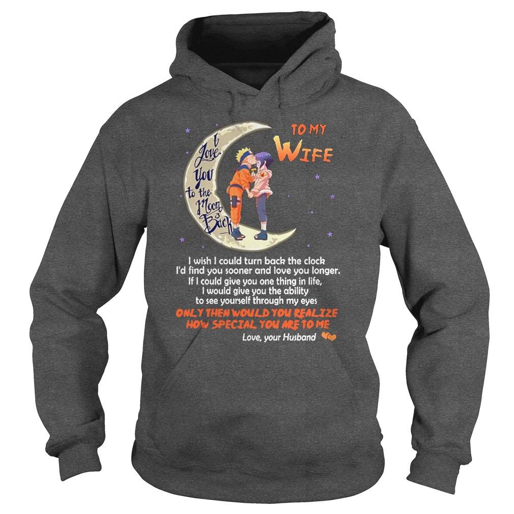 I love you to the moon and back to my wife hoodie