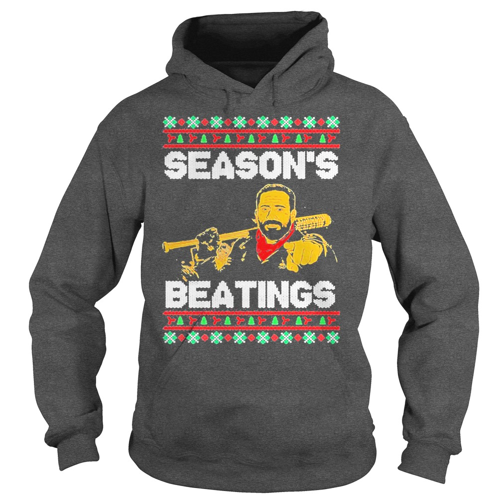 Negan Season's Beatings Christmas hoodie
