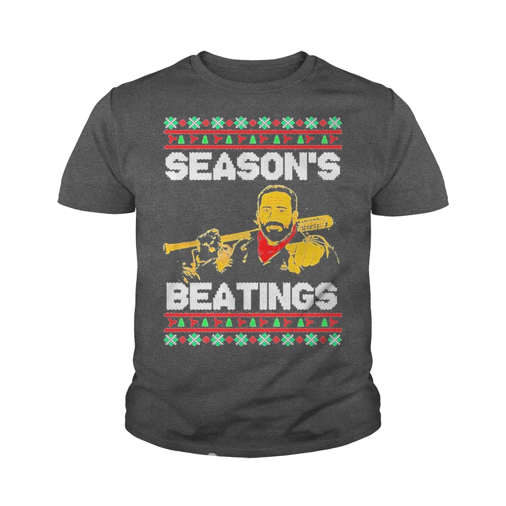 Negan Season's Beatings Christmas youth tee