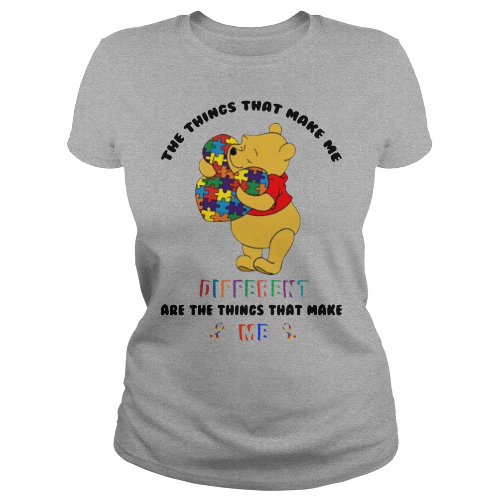 Pooh The things that make me different are the things that make me ladies tee