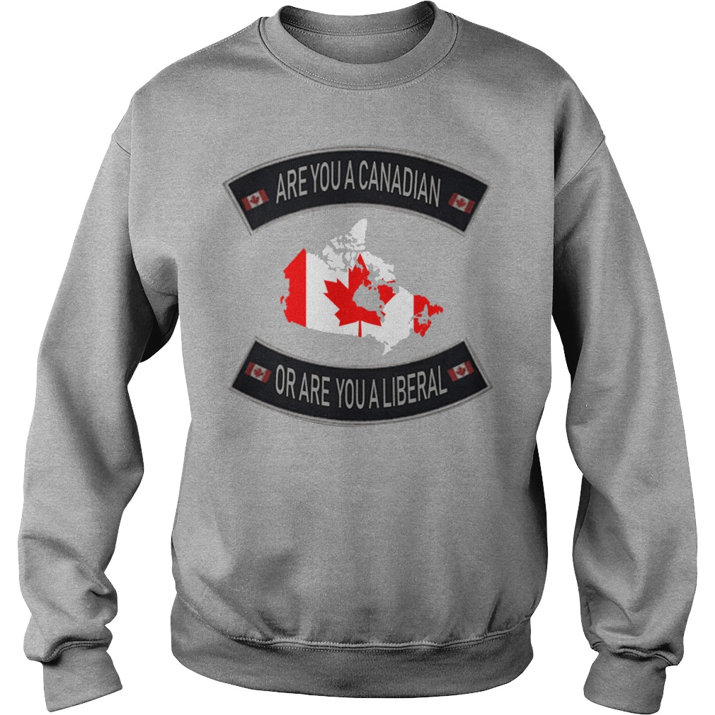 Are You A Canadian Or Are You A Liberal sweater