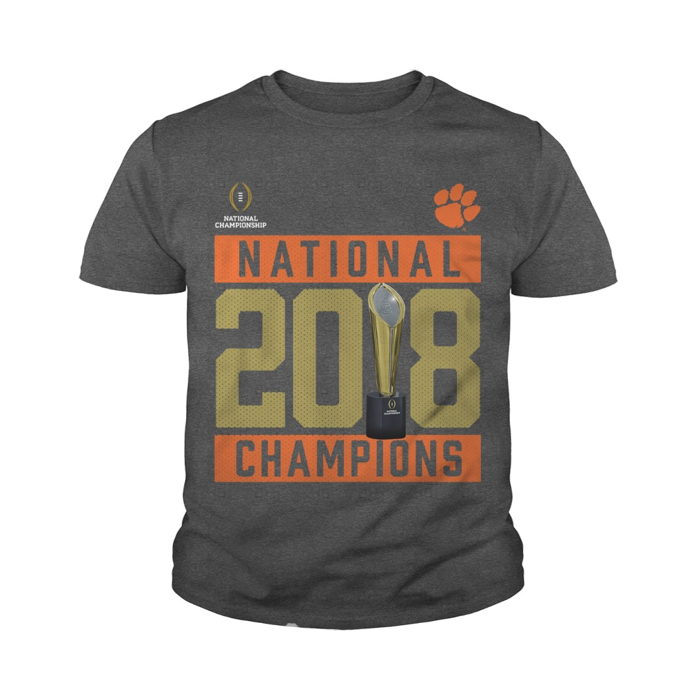 Clemson tigers national 2018 champions Pitch youth tee