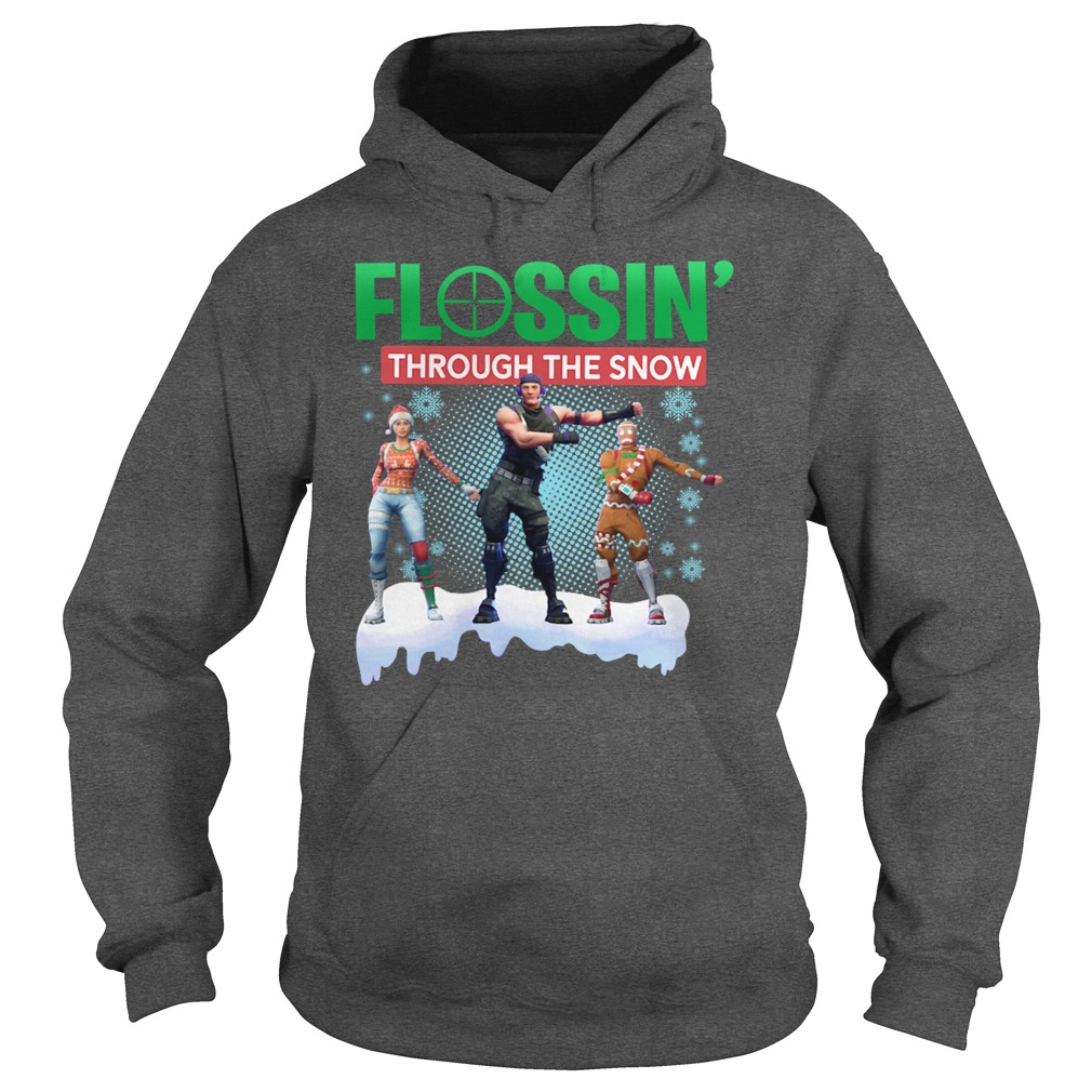 Fortnite Flossin Through the snow hoodie