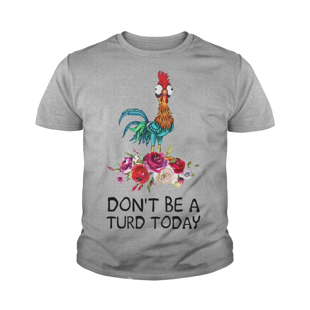 Hei hei don't be a turd today youth tee