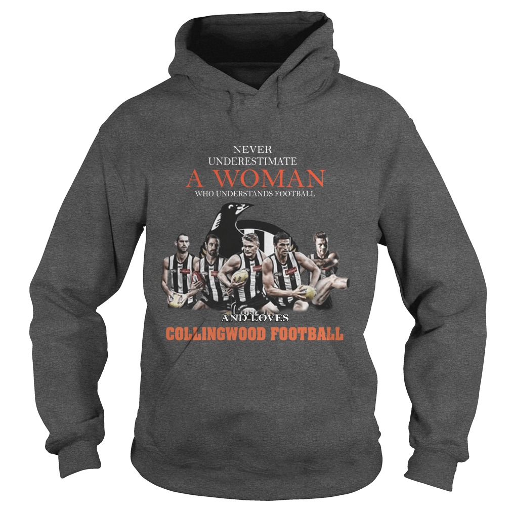 Never Underestimate A Woman Who Understands Football And Love Collingwood Football hoodie