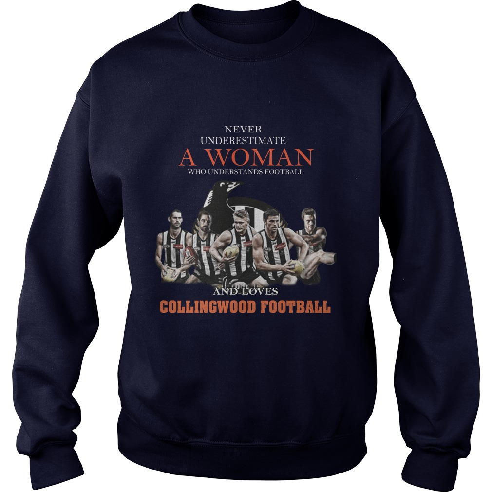 Never Underestimate A Woman Who Understands Football And Love Collingwood Football sweater