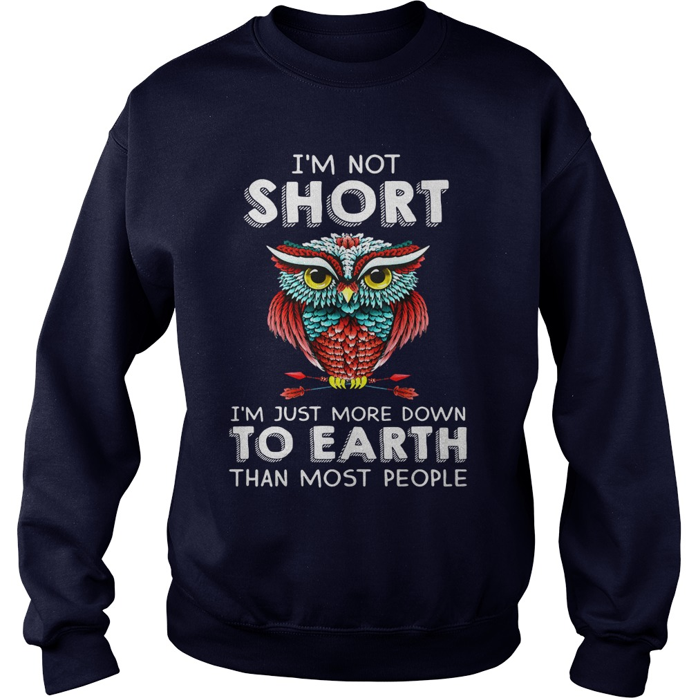 I'm not short I'm just more down to earth than most people shirt sweater