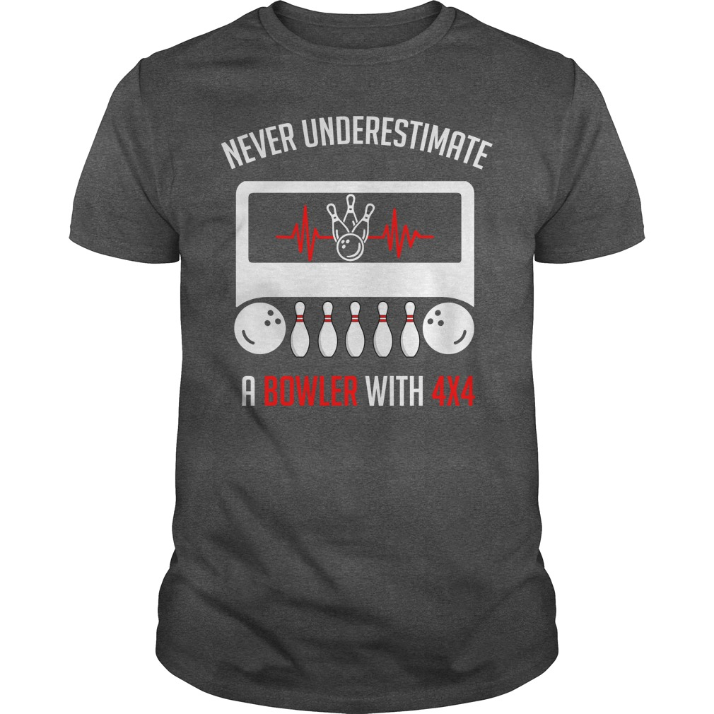 Jeep never underestimate a bowler with 4x4 shirt