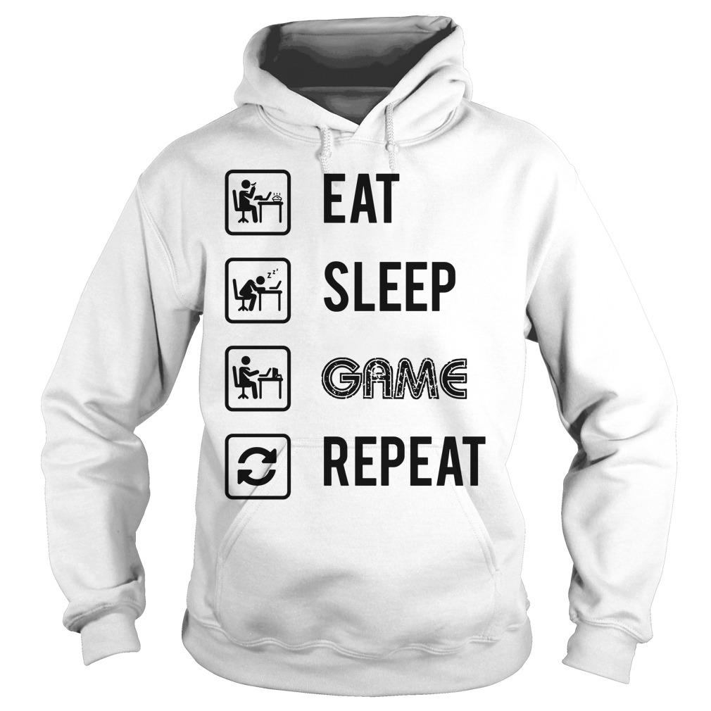 My Perfect Day EAT SLEEP GAME REPEAT shirt hoodie