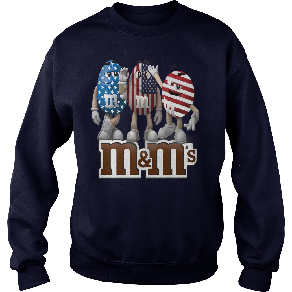 M and M's american flag shirt sweater