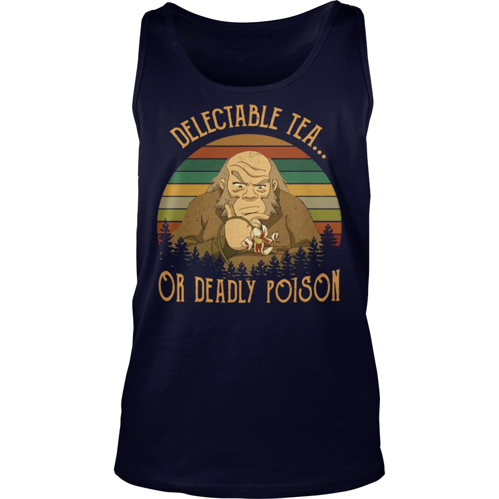 Uncle Iroh delectable tea or deadly poison vintage shirt tank top