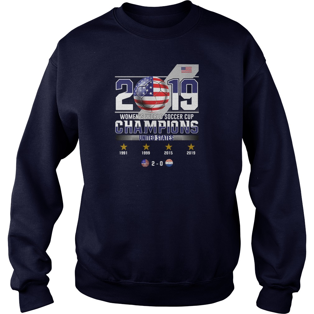 2019 women's world soccer cup champions United States shirt sweater