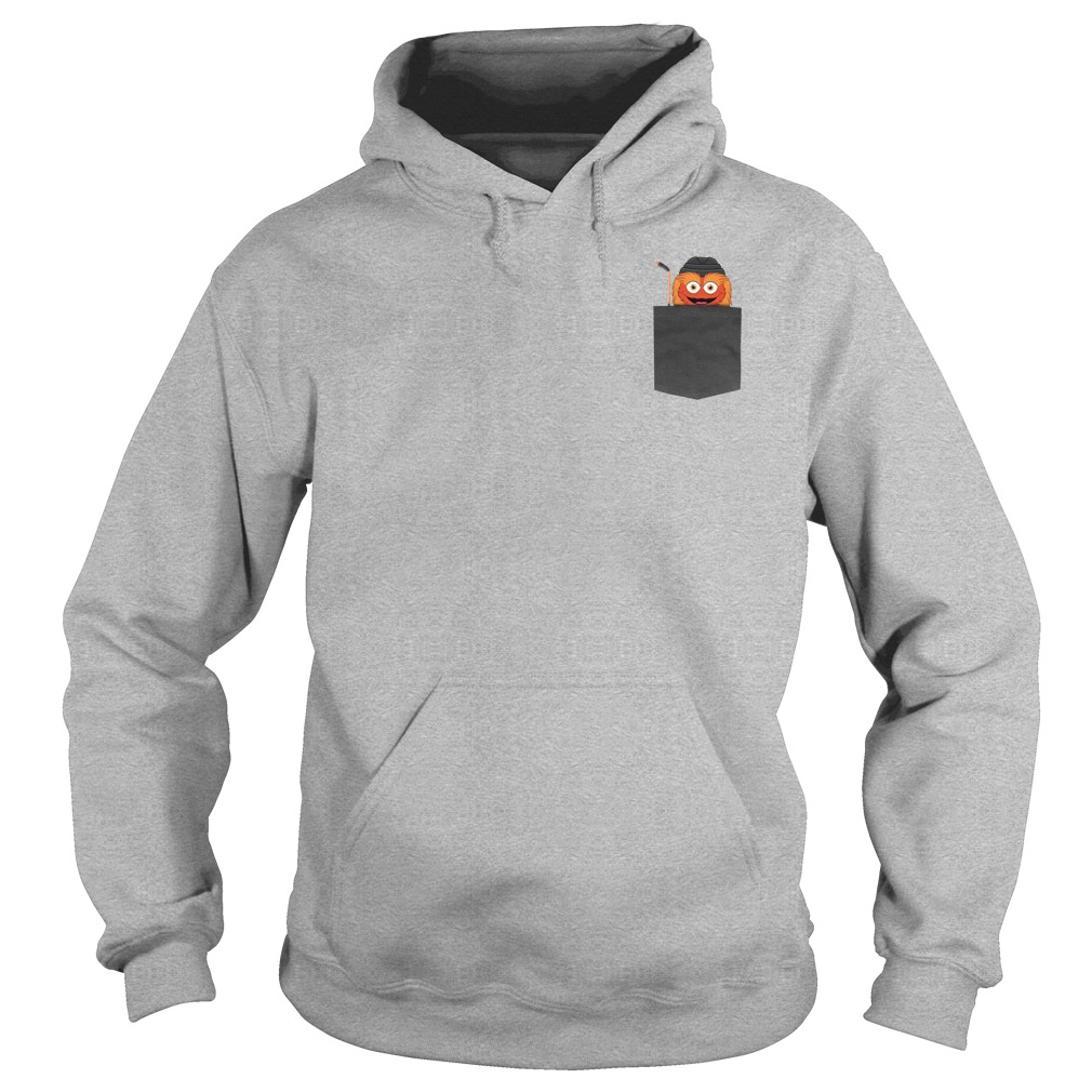 Gritty funny in pocket shirt hoodie