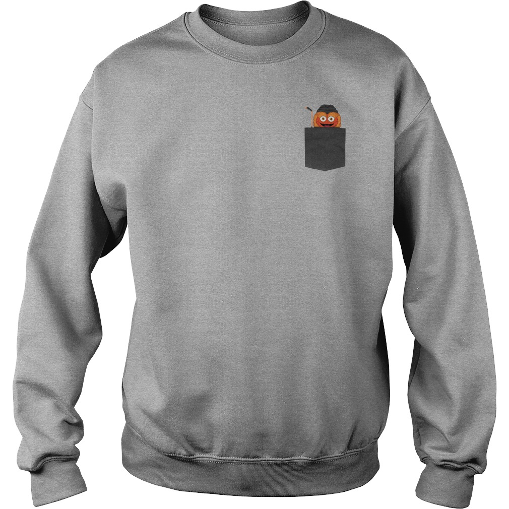 Gritty funny in pocket shirt sweater