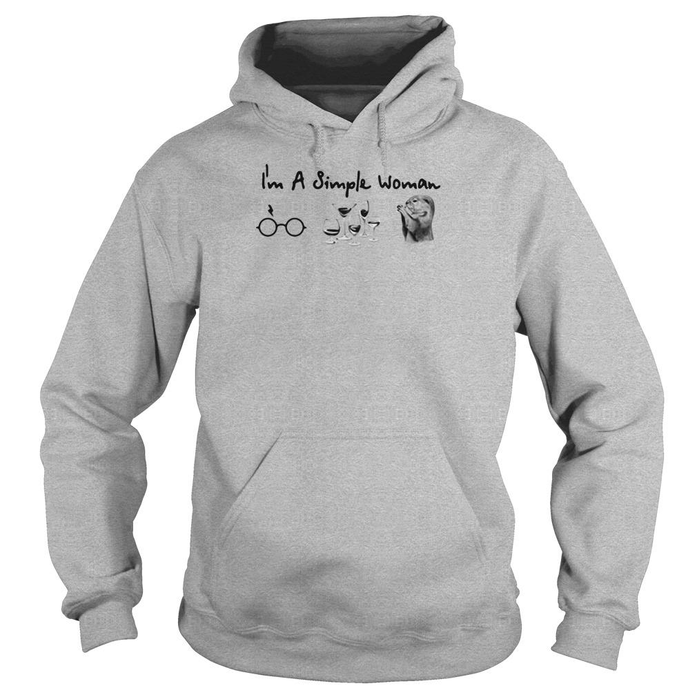 I'm a simple woman i love harry potter wine and mouse shirt hoodie