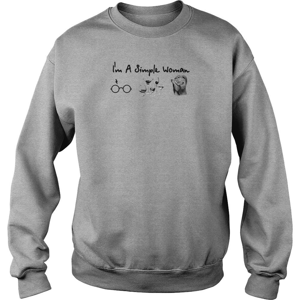 I'm a simple woman i love harry potter wine and mouse shirt sweater