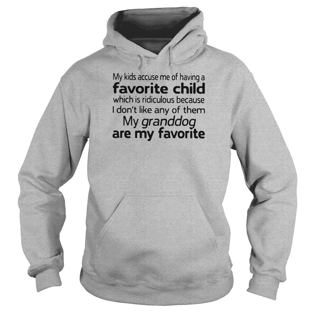 My kids accuse me of having favorite child which is ridiculous because i don't like shirt hoodie