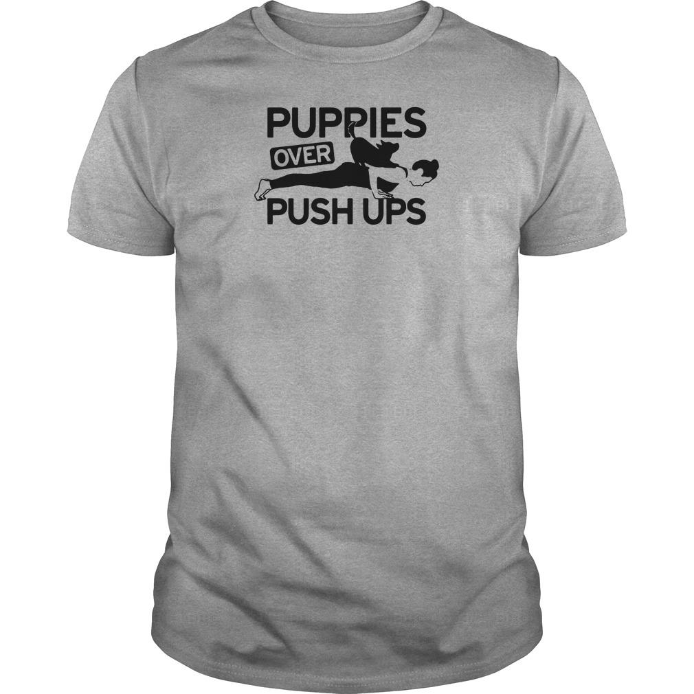 Puppies over push ups shirt