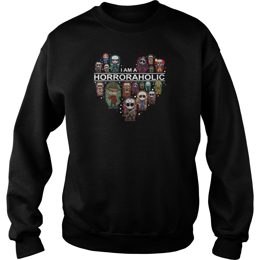 I am a horror aholic heart shirt sweater