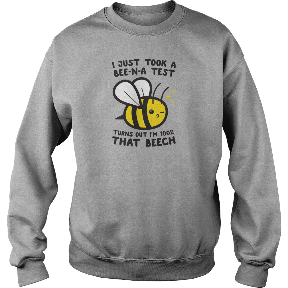 I just took a Bee-N-A test turns out i'm 100% that beech shirt sweater