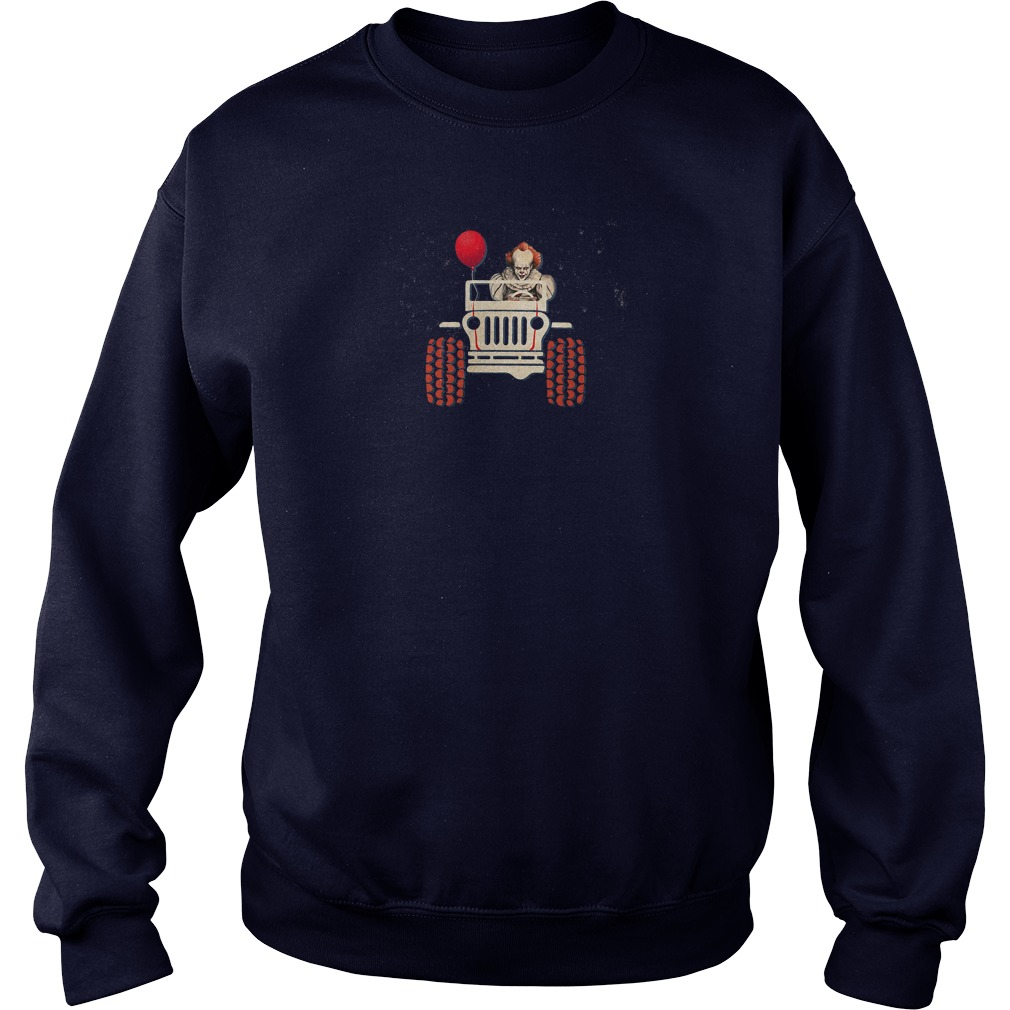 Pennywise drives the jeep Halloween shirt sweater