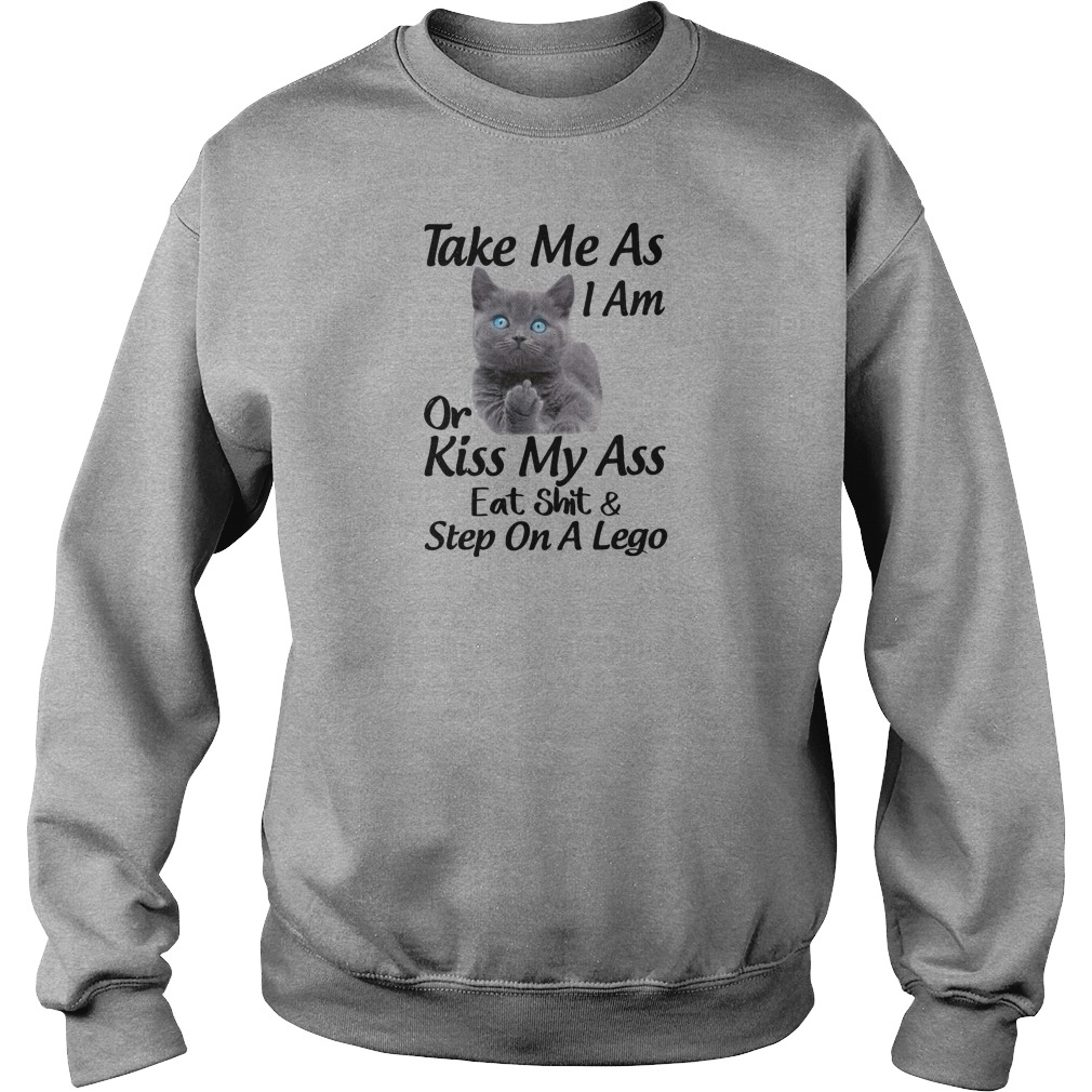 Take me as i am or kiss my ass eat shit and step on a lego shirt sweater