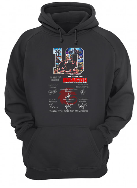 10 Years of How To Train Your Dragon thank you for the memories  Unisex Hoodie