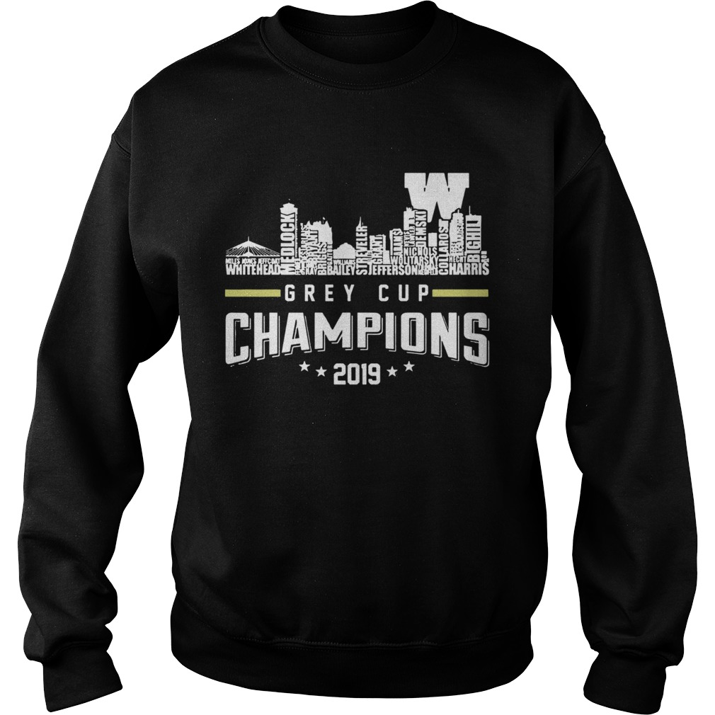 107th Grey Cup Blue Bombers Building Players Champions 2019  Sweatshirt